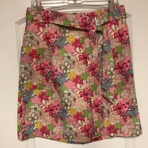 Brooks Brothers Liberty Pink Floral A Line Skirt 8